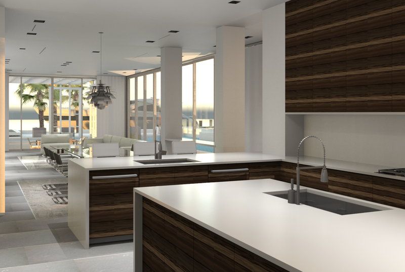 Arktitekure Kitchen rendering