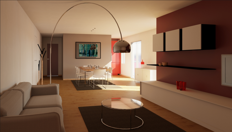Fabio Riva living room rendering