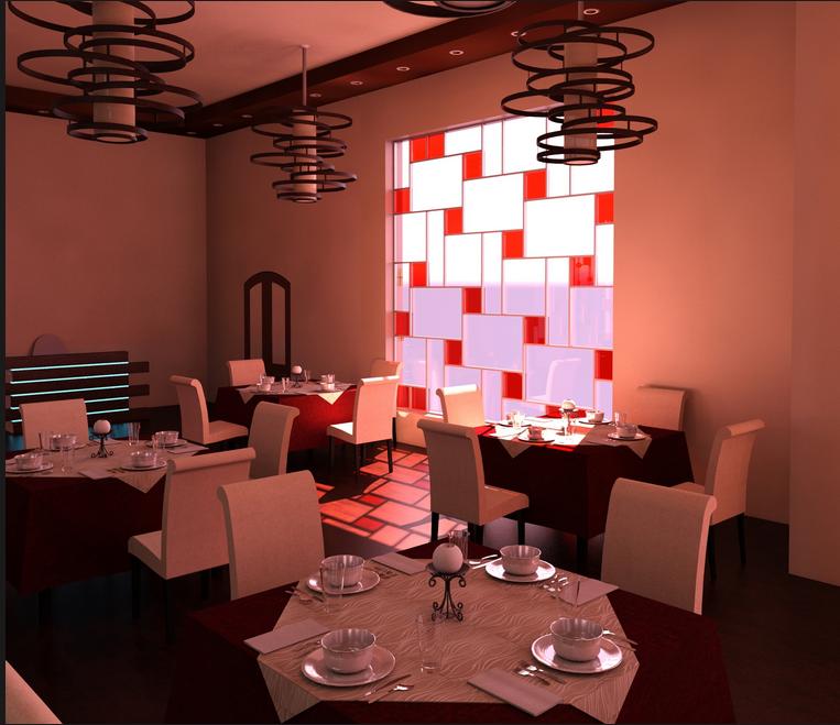 Ala'a Ja'far Restaurant Rendering